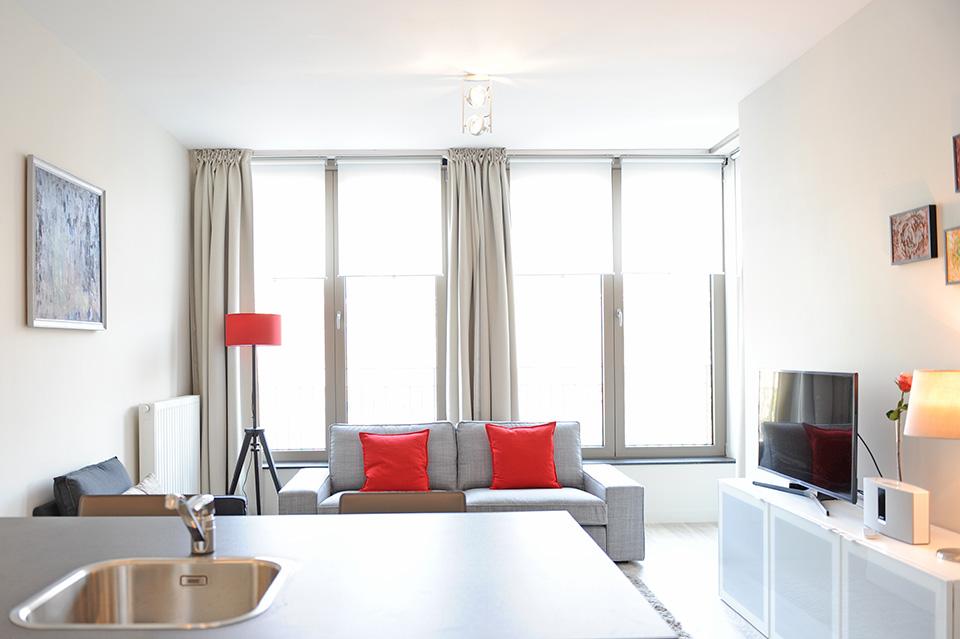 1 Slaapkamer Appartement : Gemeubeld slaapkamer appartement in residentie de schilden